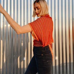 [Zara] Knit Metallic Wrap Top
